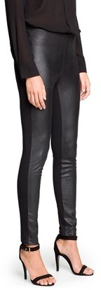MANGO Outlet Glossy Finish Faux Suede Leggings