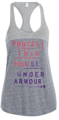 Under Armour Charged Cotton Wordmark TriBlend Tank Top