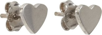 Jennifer Meyer Women's Heart Studs-Colorless