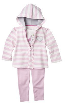 Carter's Just One You made by Infant Girls' 3-pc. Elephant Cardigan Set - White/Pink