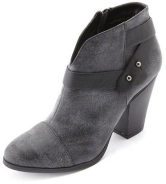 Charlotte Russe Strappy Distressed Ankle Bootie