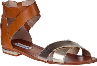 Steve Madden Benadet Sandal Tan/Black Leather
