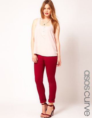 Asos Exclusive Skinny Jean In Oxblood #4