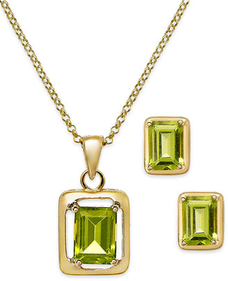 Townsend Victoria Peridot (3-3/4 ct. t.w.) Jewelry Set in 18k Gold over Sterling Silver
