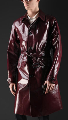 Burberry Laminated Cotton Trench Coat