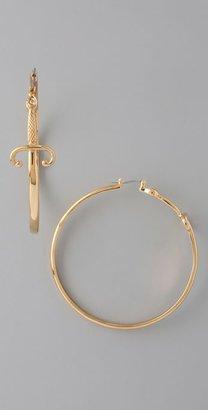 Noir Jewelry Dagger Hoops