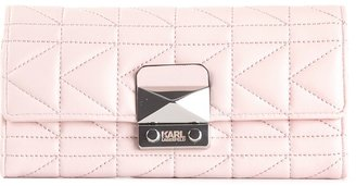 Karl Lagerfeld quilted long wallet