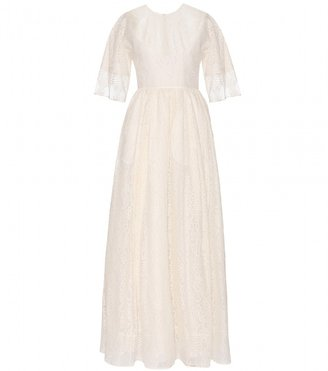 Valentino Cotton-blend lace gown