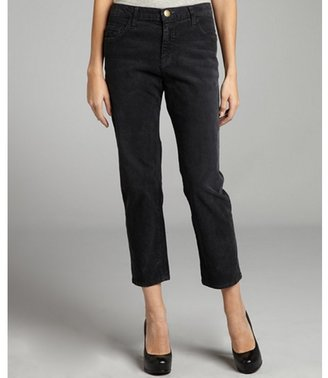 Current/Elliott washed black corduroy 'The Boyfriend' cropped pants