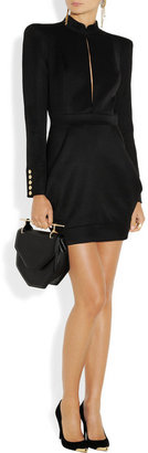 Balmain Wool-twill mini dress