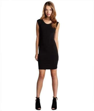 French Connection black and flavella red 'Monique' back zip stretch knit dress