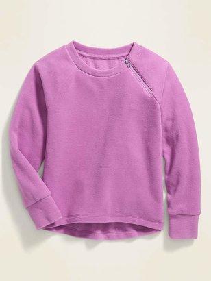 Old Navy Micro Performance Fleece Zip-Shoulder Pullover for Girls
