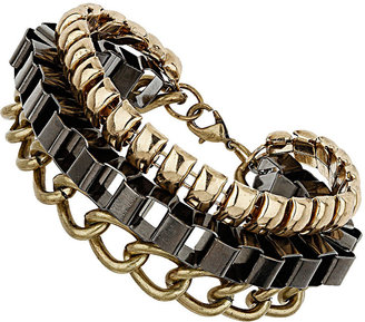 Topshop Mixed Multi Chain Bracelet