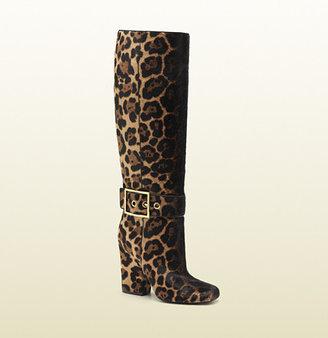 Gucci Kesha Jaguar Print High Heel Boot