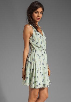 Milly Pellicano Print on Silk Crepe Julie Gathered Dress