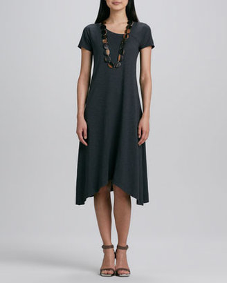 Eileen Fisher Hemp Jersey Handkerchief Dress