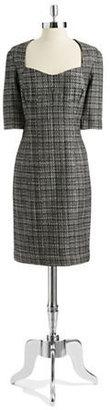 Pamella Roland PAMELLA Tweed Sheath Dress