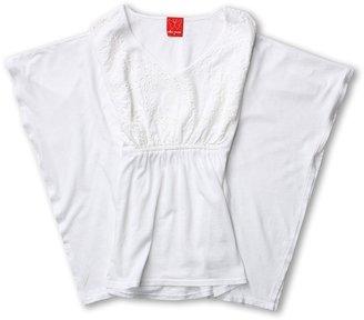 Ella Moss Heidi Top (Big Kids) (White) - Apparel