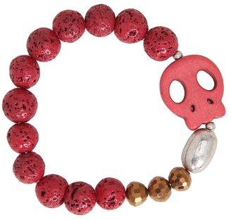Gabriella Rocha Giale Beaded Skull Bracelet (Pink) - Jewelry