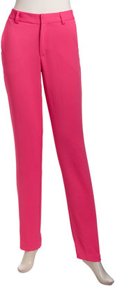 Nanette Lepore Narrow Straight-Leg Pants, Pink