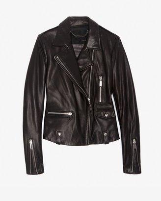Barbara Bui Refined Moto Leather Jacket