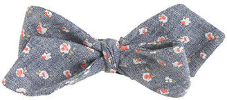 J.Crew Chambray bow tie in floral
