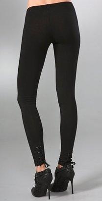 Splendid Lace Back Leggings