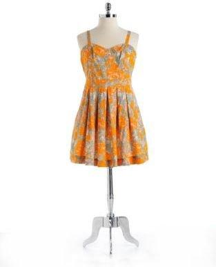 Jessica Simpson WOMENS Plus Camarillo Sleeveless Cotton Dress