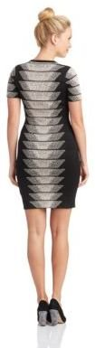 French Connection Patterned Bandage Dress
