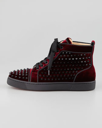 Christian Louboutin Louis Orlato Spiked High-Top Sneaker, Rouge