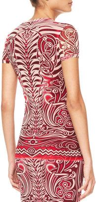 Jean Paul Gaultier Tattoo-Print Tulle T-Shirt