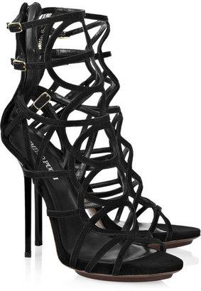 Emilio Pucci Multi-strap suede sandals