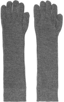 Acne Lucida ribbed merino wool gloves