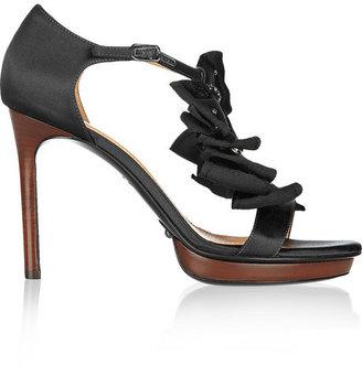 Lanvin Embellished satin sandals