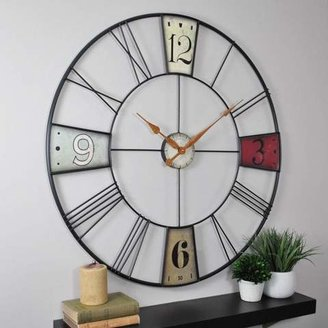 FirsTime Oversized Vibrant Plaques Wall Clock (