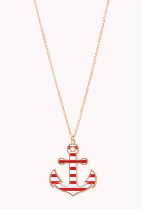 Forever 21 Set Sail Pendant Necklace