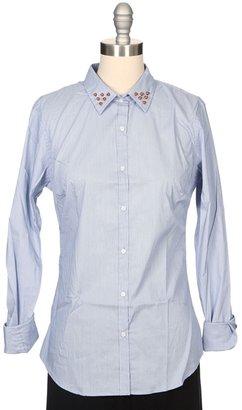 Maison Scotch Stud Collar Button Down Basic Shirt