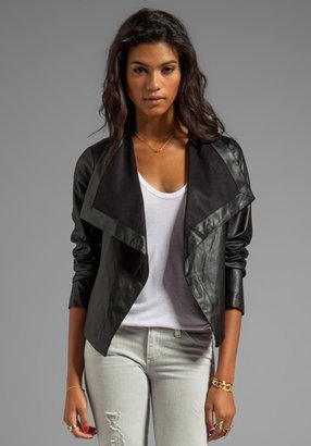 BB Dakota Jasper PU Drapey Front Jacket