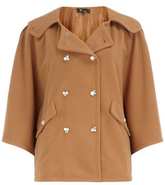 Dorothy Perkins Coffee cape coat