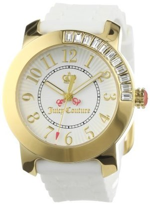 Juicy Couture Women's 1900731 BFF White Jelly Strap Watch $194.95 thestylecure.com