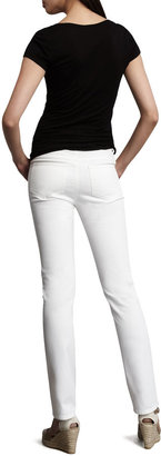 Lafayette 148 New York Curvy Slim Jeans, White