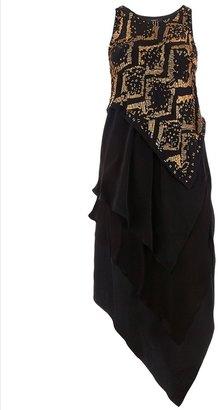 Robert Rodriguez Silk layered dress