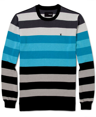 Hurley Long Sweater, Striped Engine Sweater