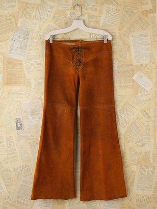 Free People Vintage Brown Suede Flare Pants