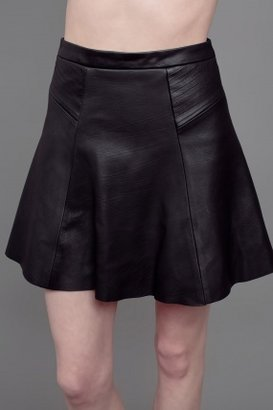 A.L.C. Reese Leather Skirt Black