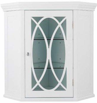 Elegant Home Fashions Laurel Corner Wall Cabinet - White - 24.5
