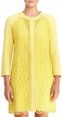 Rachel Roy Lace Combo Coat