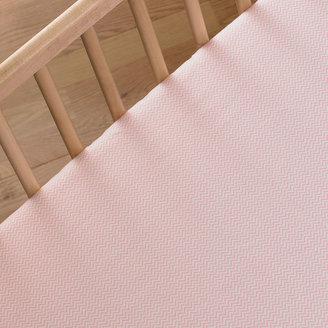 Lolli Living Fitted Crib Sheet - Pink Mini Chevron