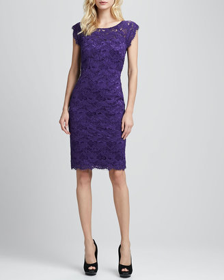 Laundry by Shelli Segal Lace Cap-Sleeve Dress
