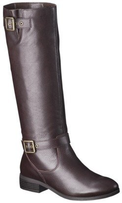 Mossimo Women's Rylee Leather Riding Boot - Brown